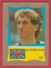 England Terry Butcher Ipswich Town **ERROR STICKER**